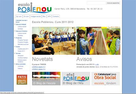 pantalla web poblenou